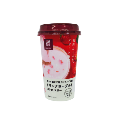 【ローソン限定】生きて腸まで届くビフィズス菌ドリンクヨーグルト ストロベリー