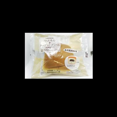 ローソン つぶあん+ヨーグルトクリーム(乳酸菌入り)